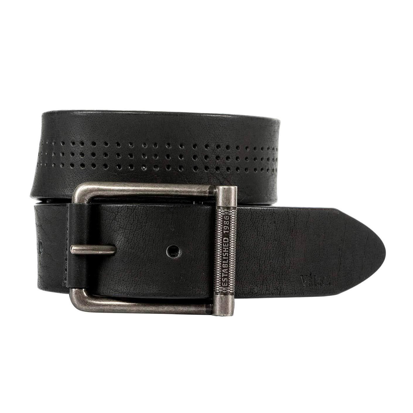 VELEZ Mens Leather Jean Belts Cinturones Casuales de Cuero Para Hombres