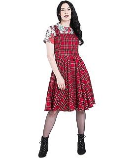 137e694be1 Hell Bunny Pinball Rockabilly 50s Style Border Dress  Amazon.co.uk ...