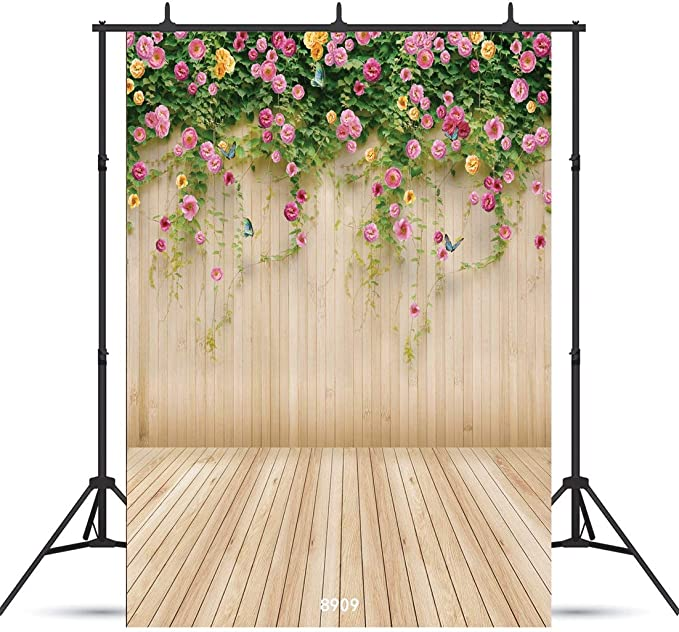 10x12 FT Photo Backdrops,Abstract Soft Toned Flowers Inspired Damask Traditional Fragrance Ornamental Theme Background for Baby Shower Birthday Wedding Bridal Shower Party Decoration Photo Studio