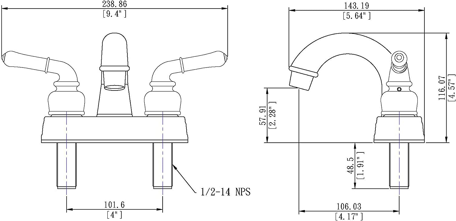 Brushed Bronze Finish Laguna Brass 2001BZ//3210BZ//4120BZ RV Bathroom and Tub Faucet with Matching Hand Shower Combo
