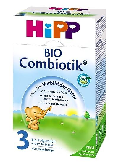 Hipp Orgánico Combiotik 3 leche de continuación - de 10 mes, 12-pack (