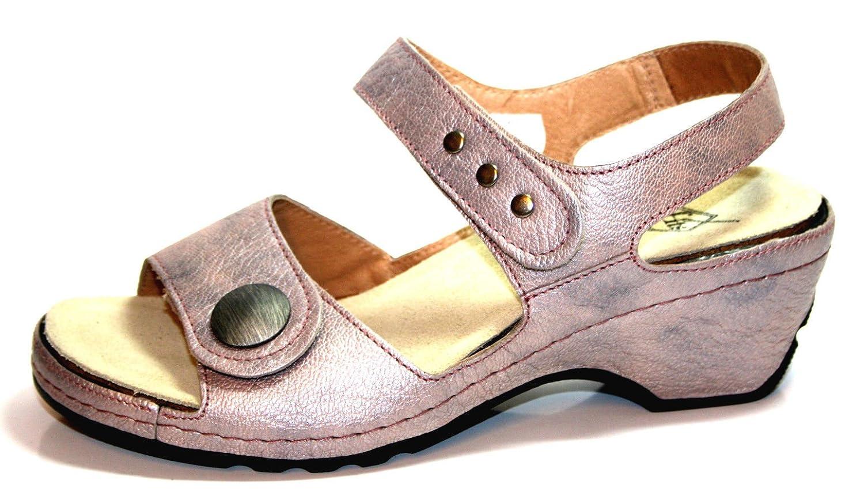Theresia M... LederSandaleette Sandale Leder Clogs Sommerschuhe Leder Sandale M54108 Orchidea 7c5a32
