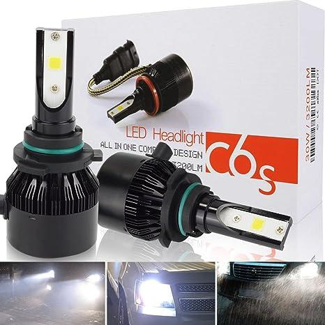 Bombilla 9006 LED Coche, Safego HB4 60W 8000LM LED Faros Delanteros Bombillas para Coche y
