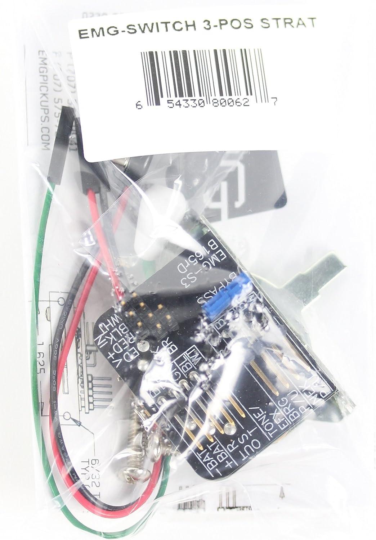 Amazon.com: EMG 3-POS Strat Solderless Selector Switch: EMG Pickups:  Musical Instruments