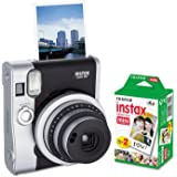 Fujifilm 600016090 Instax Mini 90 Neo Classic Camera Bundle, Auto Focus, Black