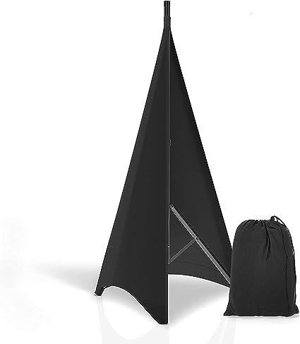 PRORECK Speaker Stand Cover Lighting Stand Skirt 360 Degree Cover Black x 2