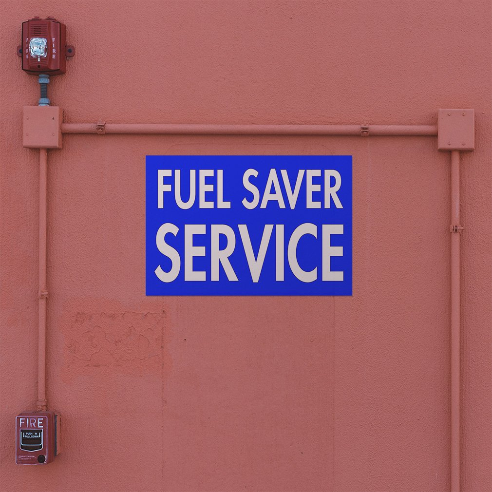 Decal Sticker Multiple Sizes Fuel Saver Service Automotive Fuel Outdoor Store Sign Blue Set of 5 27inx18in