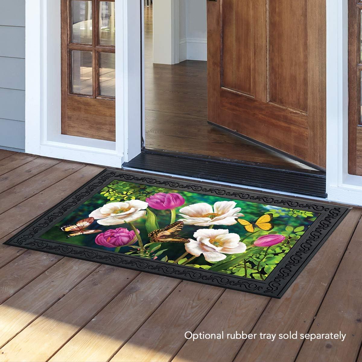Briarwood Lane Butterflies and Poppies Spring Doormat Floral Indoor Outdoor 18 x 30