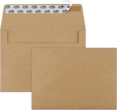 50 Kraft Colored Brown 5x7 Invitation Envelopes size A7 5-14 x 7-14 set of 50