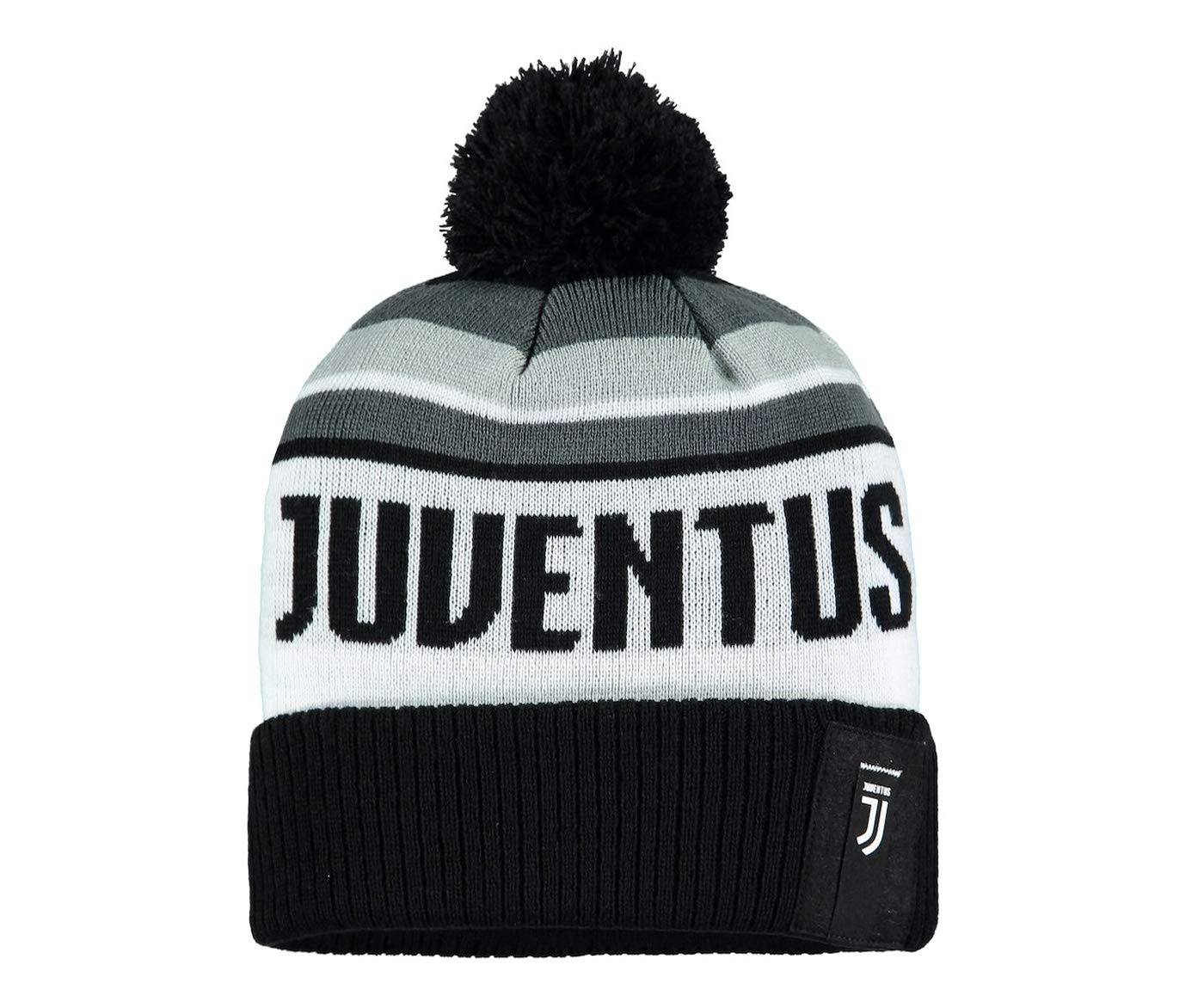 c3b46845 Amazon.com : Fi Collection Juventus Officially Licensed Racer Cuff Knit w/Pom  Pom : Sports & Outdoors