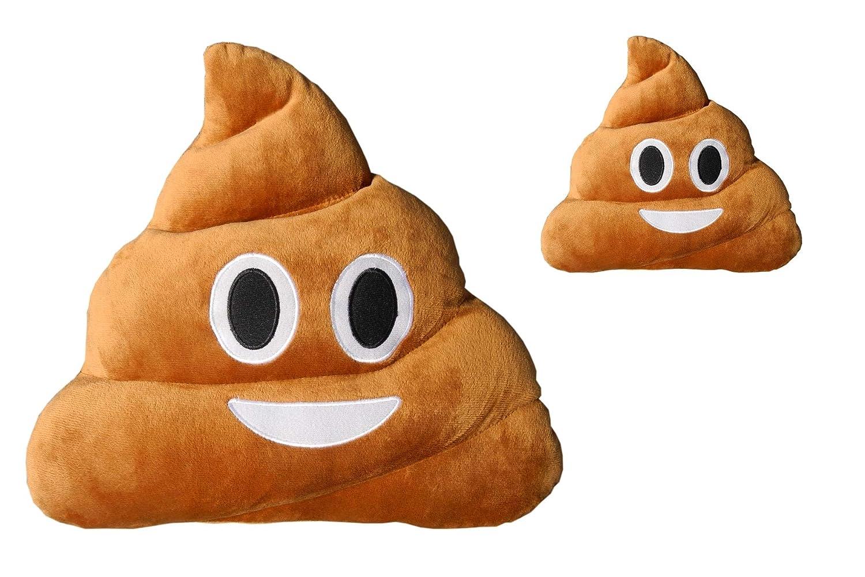 Haufi Cojín Emoji Sonriente - Almohada EMOTICONOS Caca Whatsapp - Microfibra - 28 cm - La Verdadera Moda del Año. 2 Piezas, Producto Original: Amazon.es: ...