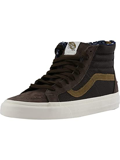 699801423a Vans Sk8-Hi Zip Ca Leather and Nubuck Coffee Bean Ankle-High Fashion  Sneaker - 8.5M 7M  Vans  Amazon.ca  Home   Kitchen