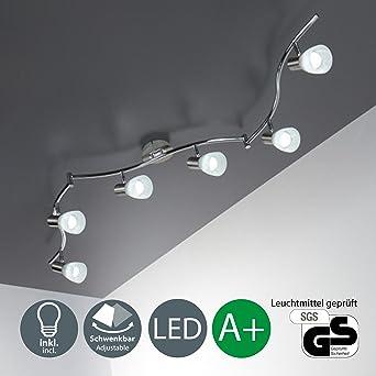 LED Deckenleuchte I 6 flammiger Deckenstrahler I Schlafzimmer-Lampe ...