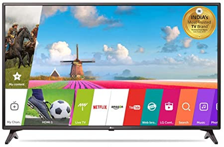 LG 108 cm  43 Inches  Full HD LED Smart TV 43LJ554T  Black  Televisions