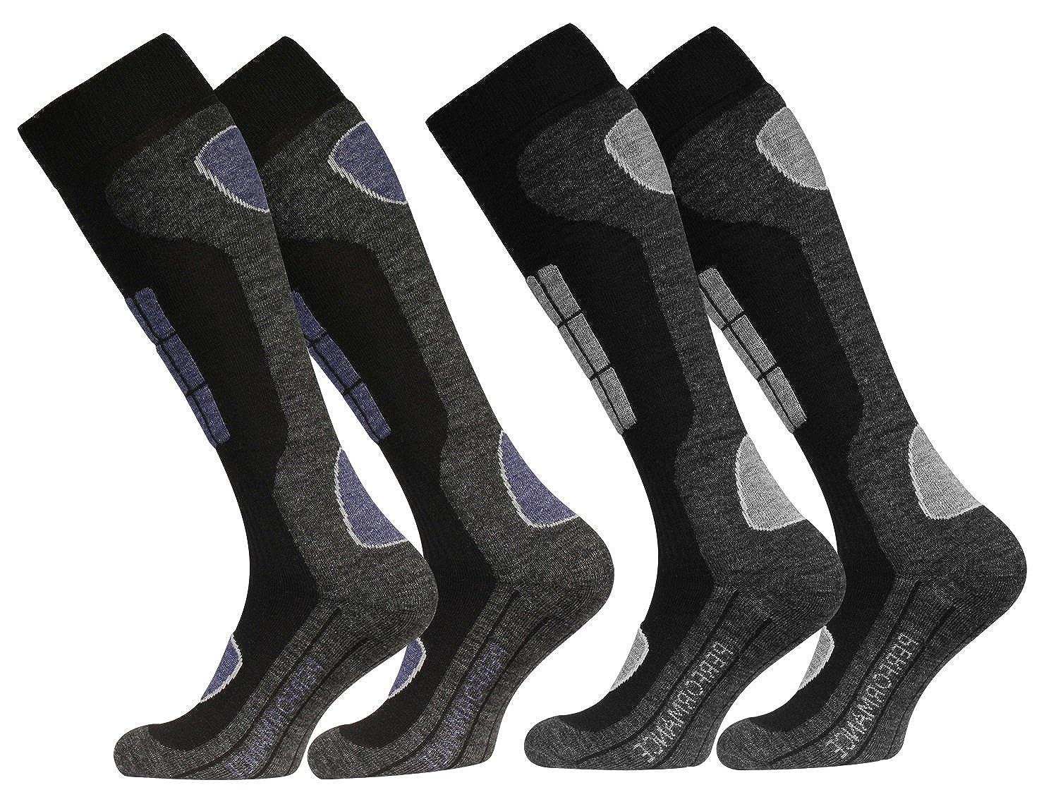 2 Paar Original VCA SKI Funktionssocken, Wintersport Socken mit Spezial Polsterung 2036_N