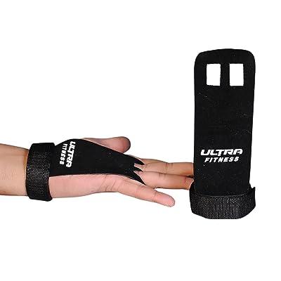 Ultra Fitness Paire de gants de sport en cuir texturé, maniques pour tractions, crossfit, musculation, formation de boxe, et haltères Protection des mains, protège vos paumes des blessures et des callosit