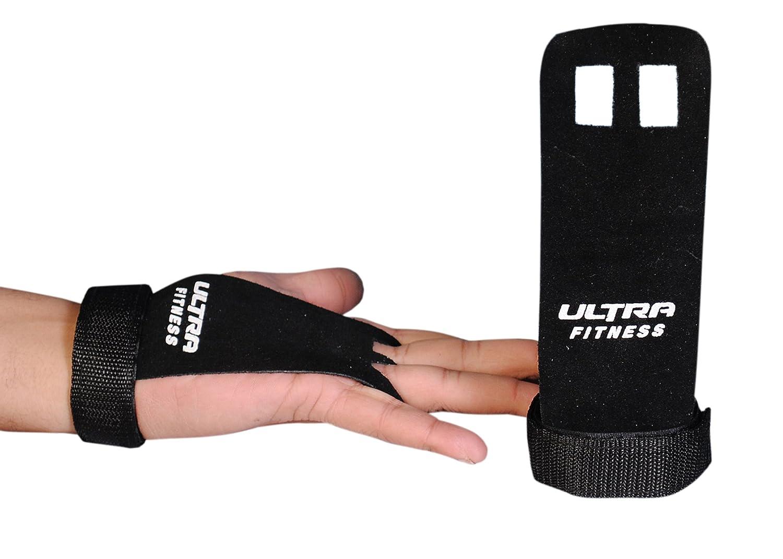 Crossfit apretones palma de cuero protectores guardias apretones guantes tirar mano de gimnasia entrenamiento - elevación tamaño y color elección ULTRA FITNESS