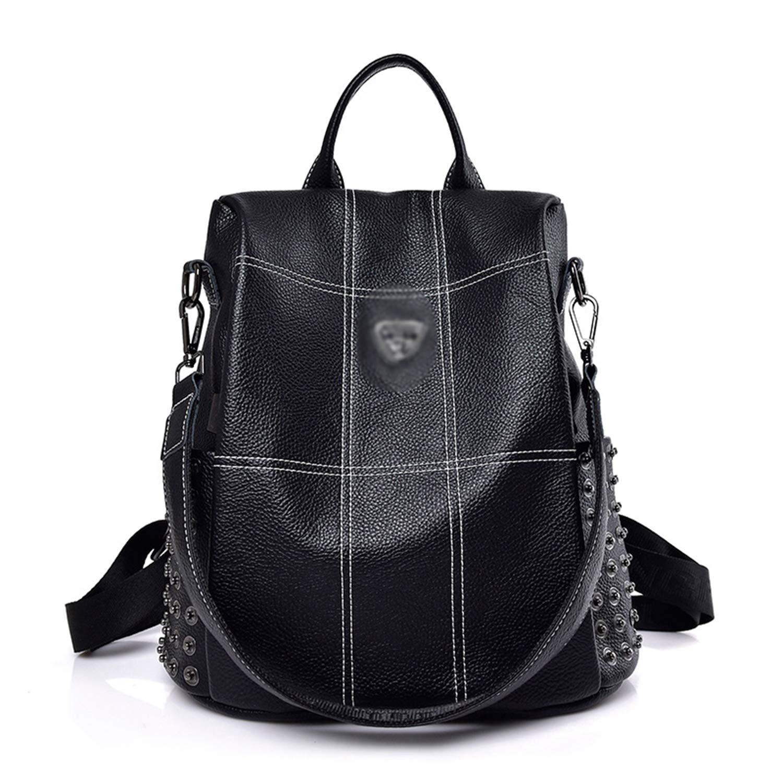 2019 New Women Leather Backpacks for Girlss Vintage Plaid Backpack Female Shoulder Bags Travel Bagpack Ladies S