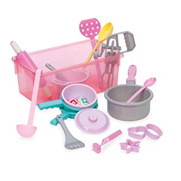 play circle cookware kitchen accessories toy playset  21 pieces  amazon com  play circle cookware kitchen accessories toy playset      rh   amazon com