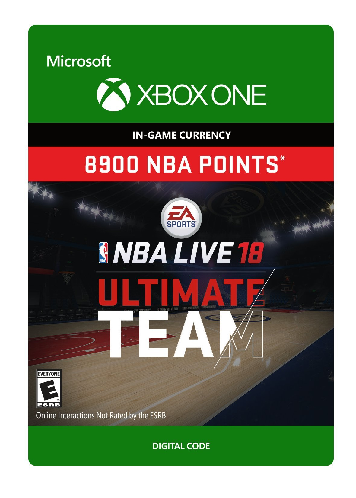 NBA LIVE 18: NBA UT 8900 Points Pack - Xbox One [Digital Code]