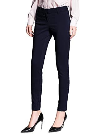 713cd68ee ATOUR Women's Extra Stretch Skinny Pants Slim Fit Comfy Office Wear (Navy  Blue, ...