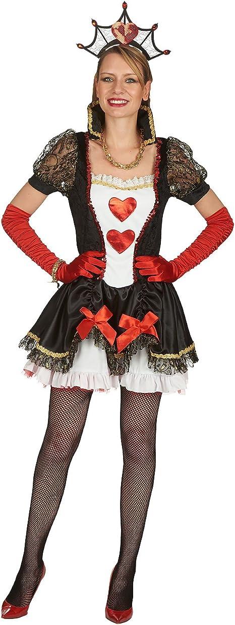 Sexy de reina de corazones disfraz Mini vestido para fiestas y ...