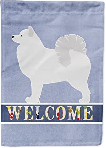 Caroline's Treasures BB5563GF Samoyed Welcome Flag Garden Size, Small, Multicolor