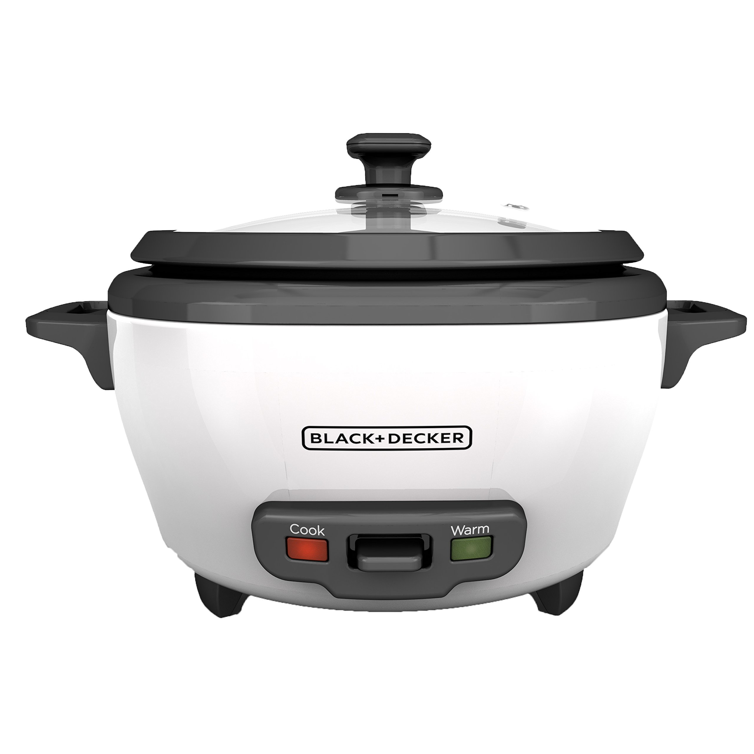 BLACK+DECKER RC506 6-Cup Cooked/3-Cup Uncooked Rice Cooker and Food Steamer, White by BLACK+DECKER (Image #1)
