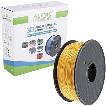 ACENIX® Oro PLA Filamento de impresora 3D, carrete de 1 kg, 1.75 ...