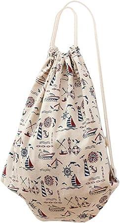 LAAT Bolsa y Mochila de Tela de Algodón Unisex para Niños o Adolescentes, Diseño con Dibujos (2)…: Amazon.es: Deportes y aire libre