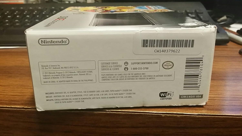 Amazon.com: Nintendo 3DS COSMO BLACK With PAPER MARIO ...