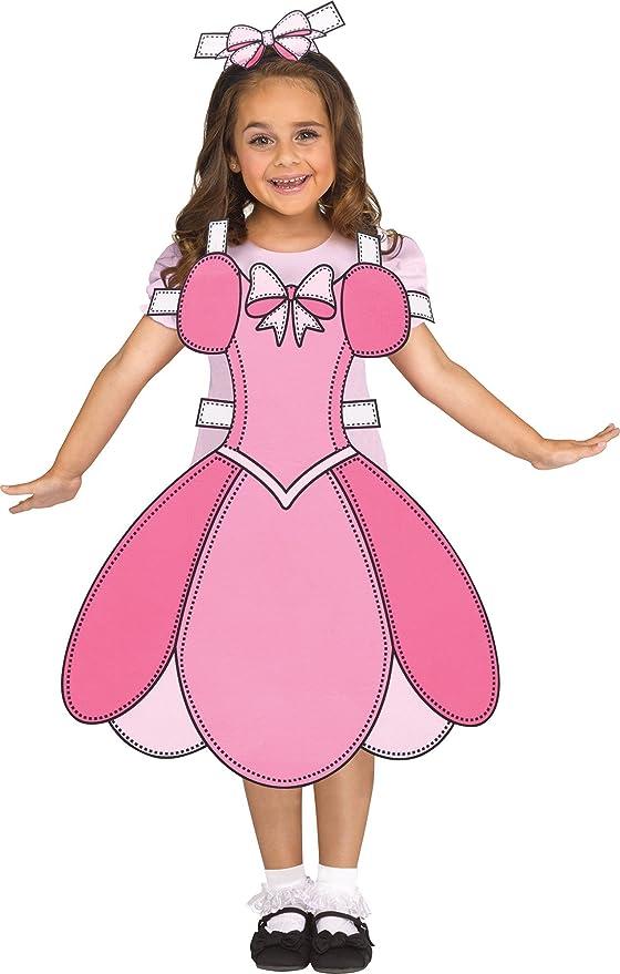 Fun World Paper Doll Costume, Small 6 - 8, Multicolor