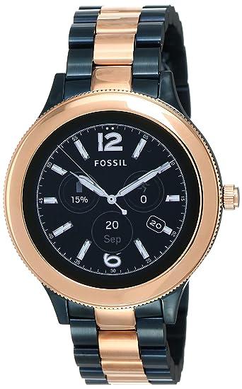 Fossil Reloj Mujer de Digital con Correa en Acero Inoxidable ...