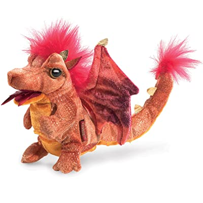Folkmanis Fire Dragon Finger Puppet Plush: Toys & Games