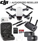 DJI Spark Quadcopter (Alpine White) + DJI Spark Remote Essential Bundle