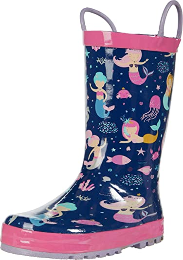 Western Chief Unisex-Child Waterproof Easy-on Printed Rain Boot Shoe
