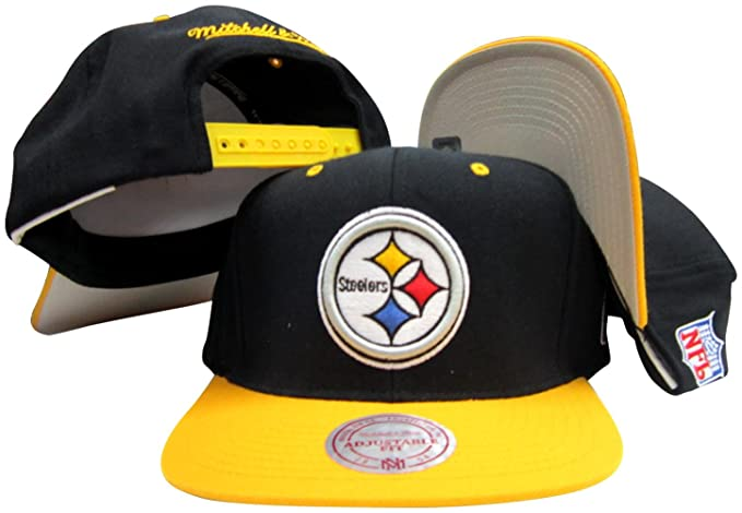 Amazon.com  Mitchell   Ness Pittsburgh Steelers Black Yellow Two ... eccb9af20