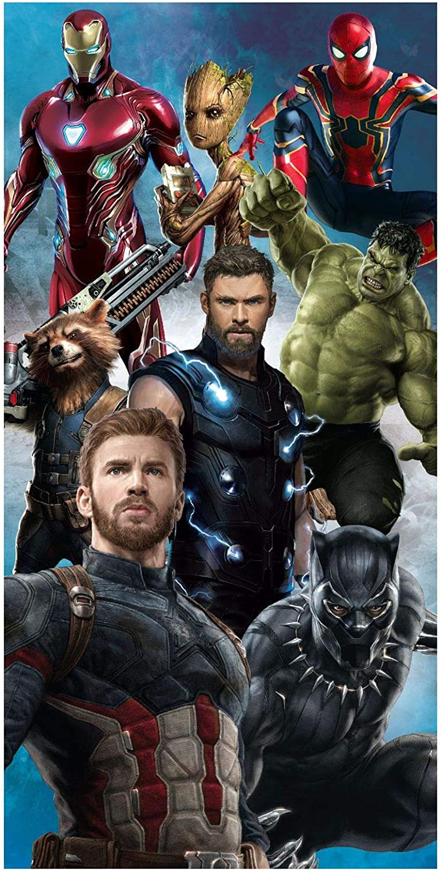 Kidco Official Avengers Endgame Infinity War 100 Cotton Beach Bath Towel 70 X 140cm Amazon Co Uk Kitchen Home