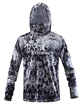 839f6a46 Amazon.com: Performance Fishing Hoodie with Face Mask Hooded Sunblock Shirt  Sun Shield Long Sleeve Shirt UPF 50 Dry Fit Quick-Dry: Clothing