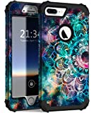 iPhone 8 Plus Case iPhone 7 Plus Case Hocase Heavy Duty Shockproof Protection Hard Plastic+Silicone Rubber Hybrid Protective Case for iPhone 7 Plus/iPhone 8 Plus - Mandala in Galaxy