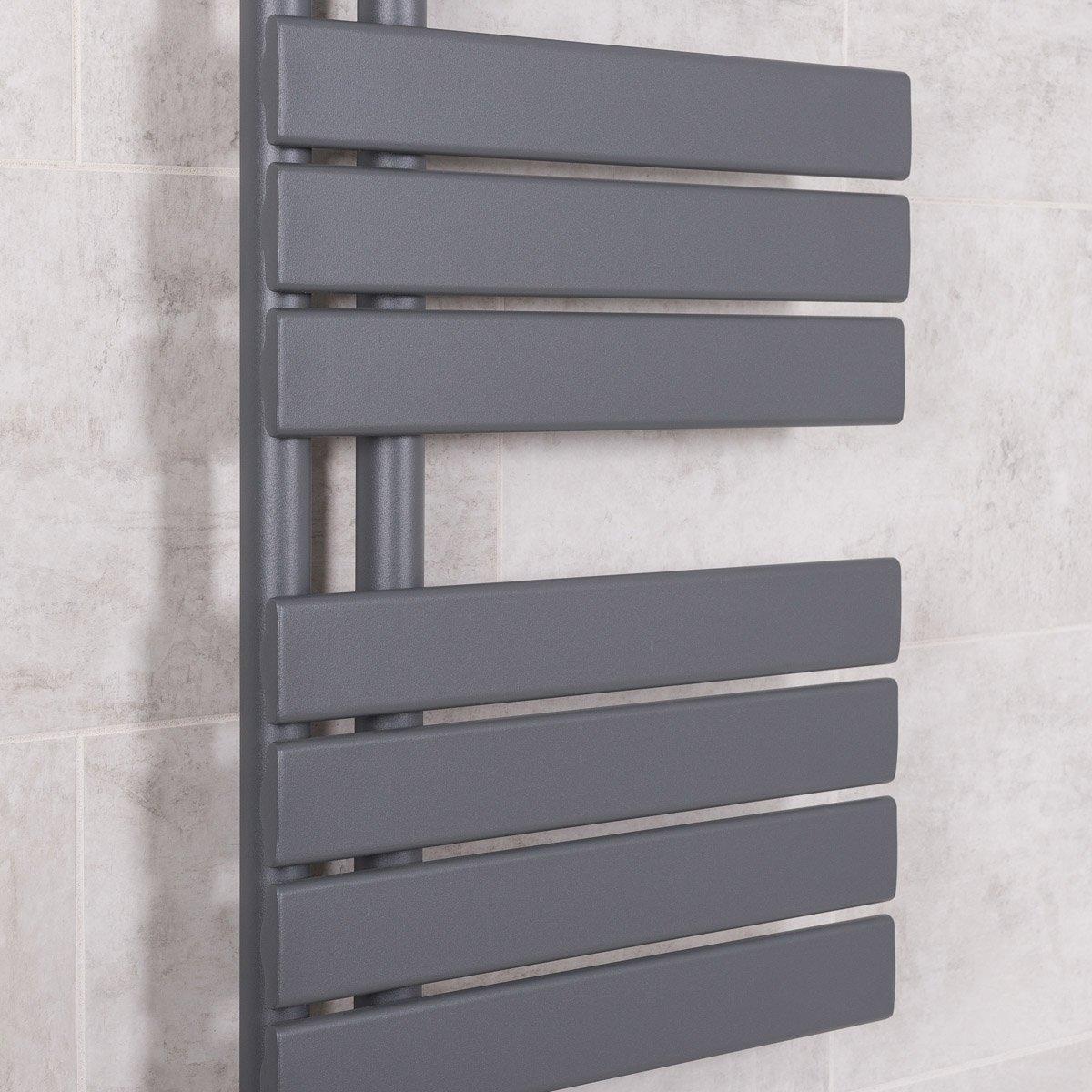 Salle de bains S/èche-serviettes radiateur plat design eau chaude 446 Watts 824 x 500 Gris