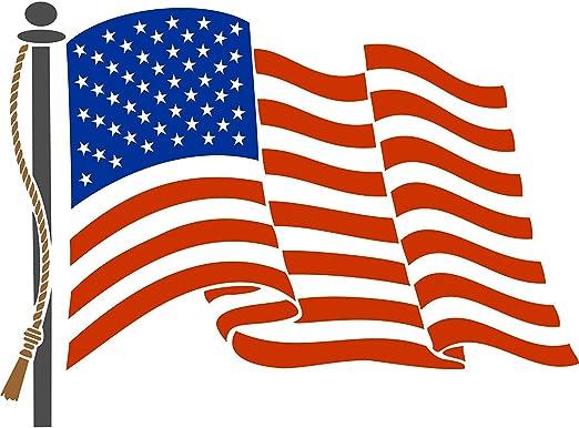 Bandera de Estados Unidos plantilla – reutilizable de pared plantillas para pintar – mejor calidad americano bandera estrellas & rayas Estados Unidos – uso en paredes, suelos, tejidos, cristal, madera, terracota, y
