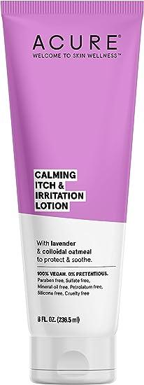ACURE – Loción corporal calmante picor e irritación con lavanda y harina de avena coloidal – 8 onzas fluidas: Amazon.es: Belleza