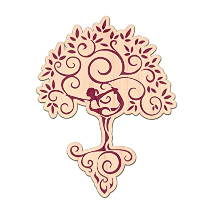 Amazon.com: YouCustomizeIt Yoga Tree Genuine Wood Sticker ...