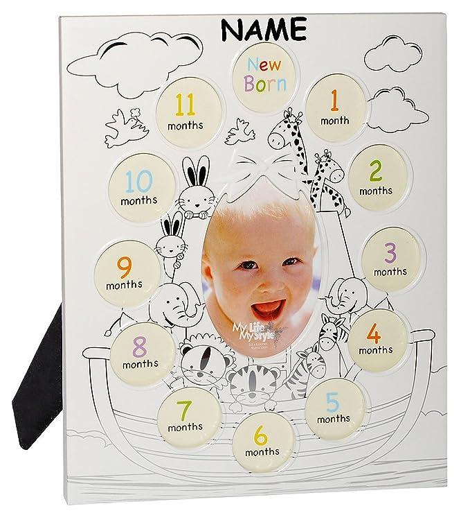 Gemütlich Baby Ersten Jahr Fotorahmen Ideen - Badspiegel Rahmen ...