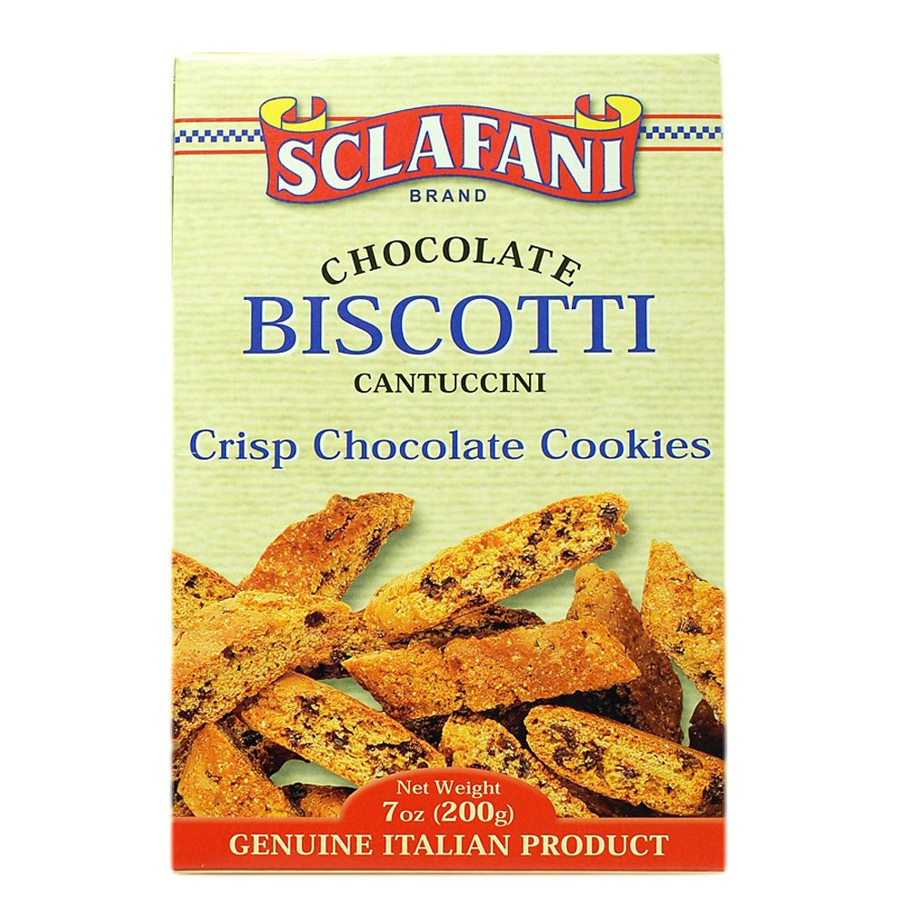 Biscotti Cookies 7 oz (200 grams) Boxes (12 Chocolate)