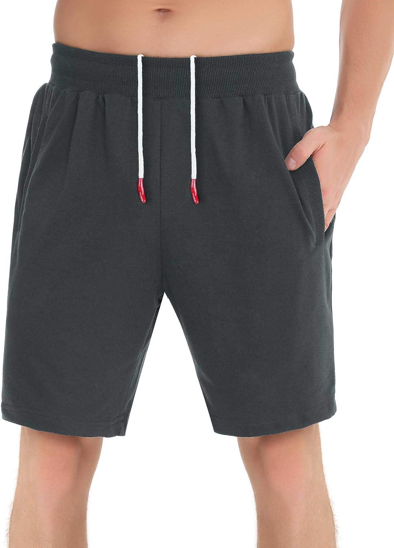 Aibrou Men's Pajama Cotton Shorts Sleep Lounge Short Bottom Active Short Pants