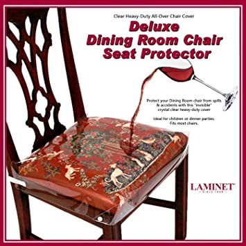 Superb Laminet New Improved Deluxe Heavy Duty Waterproof Spill Resistant Removable Crystal Clear Plastic Adjustable Patented Chair Seat Protector Fits Lamtechconsult Wood Chair Design Ideas Lamtechconsultcom