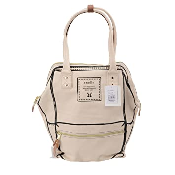 86d2287352e4 Buy Anello Official Cream White (X-Large) Japan Fashion Shoulder Top-Handle  Satchels Casual Flat Bag Online at Low Prices in India - Amazon.in