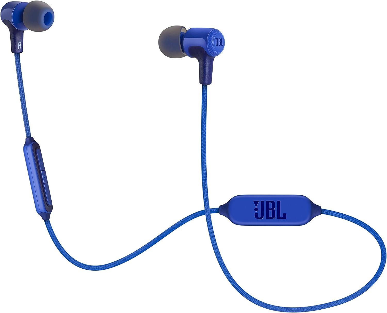 JBL E25BT – Auriculares intraurales inalámbricos con Bluetooth y micrófono, Batería de hasta 8 horas, Color azul